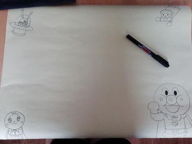 トイトレシール台紙作り方手順1