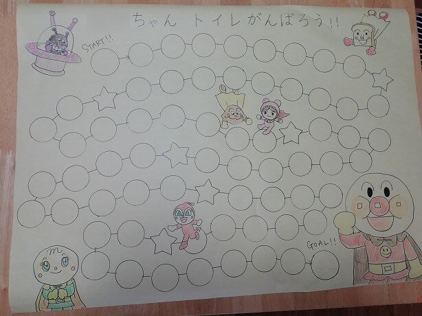 トイトレシール台紙作り方手順3